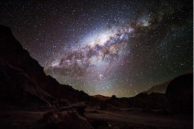 starry sky in atacama desert