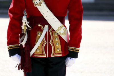 Buckingham Palace Guard, close up of uniform