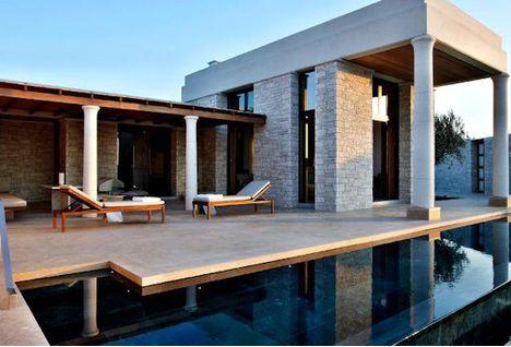 Amanzoe hotel terrace, Greece