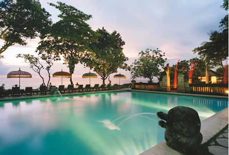Oberoi Bali Pool Sunset