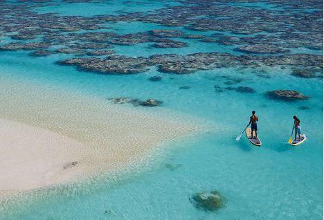 Paddle Boarding on Tetiaroa Private Island