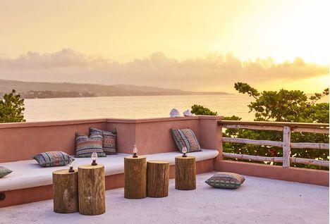 Sunset at Goldeneye Hotel