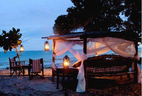 honeymoon romantic setting on kinondo kwetu beach