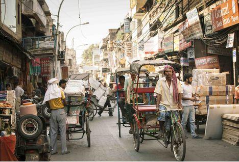 Tuk Tuk through Delhi, India