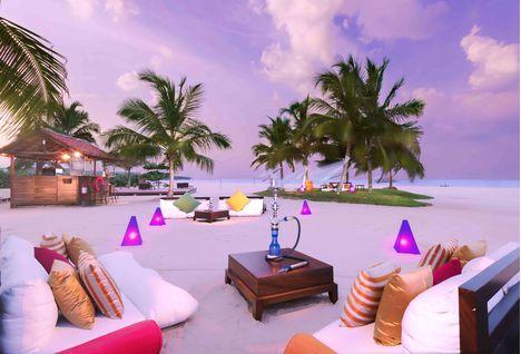 uga bay sofas on beach