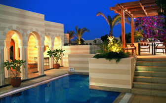 Picture of a private suite swimming pool at the Oberoi Sahl Hasheesh