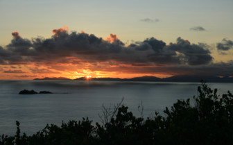 Picture of Beautiful sunset in Seychelles