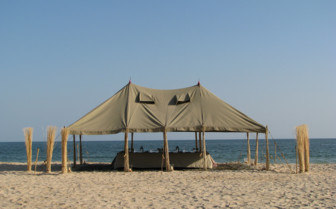 Picture of the Dining Tent on the Private Dive Safari