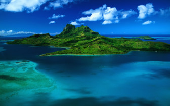 Picture of Bora Bora aerial view