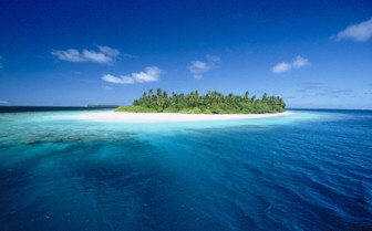 Picture of beautiful small atoll at the Northern Atolls