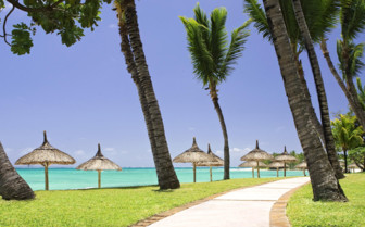 Picture of exotic beach in Mauritius