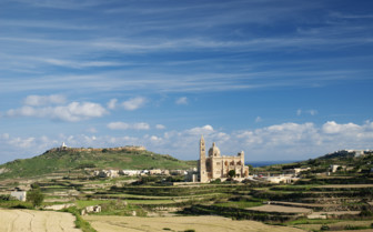 Picture of landscape with church in Gozo