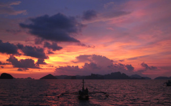 Picture of Beautiful Palawan sunset