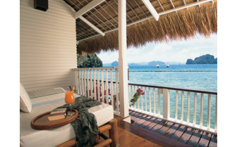 Picture of a Water Cottage Verandah at El Nido Miniloc Island Resort