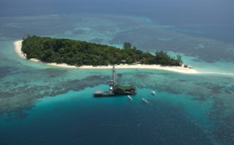 View of Lankayan island from the sky