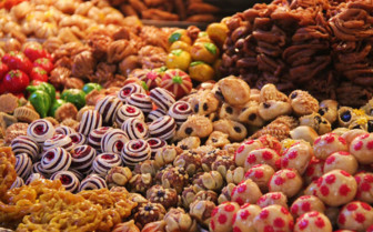 Sweet market in Morocco