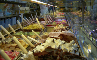 Array of ice cream flavours