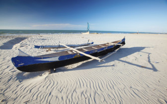 Boat Moored in the Sand, Mozambique