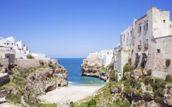 Different angle of Polignano a Mare
