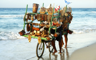 Beach transport in Cuba