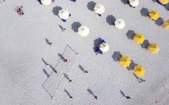 Beach Umbrellas From the Air