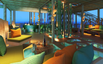 The Hotel Bar In The Evening