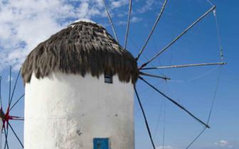 A Hilltop Windmill in Mykonos