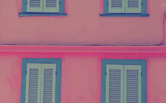 A Pink House in Greece