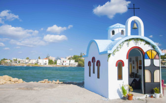 A Colourful Seaside Church in Crete