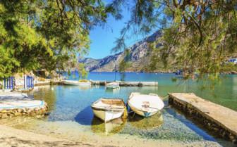 Boats in a Cretan Bay