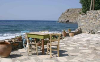 A Terrace Overlooking the Mediterranean Sea