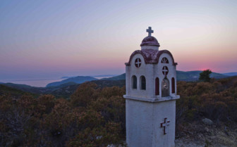 A Hilltop Church at Dusk