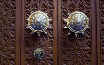 Metal Door Detail in The Grand Mosque