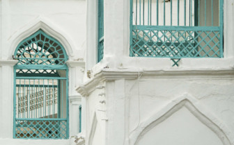Wrought-Iron Decoration on an Old House in Muscat