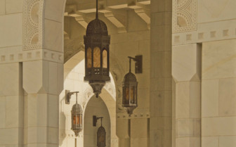 Lanterns in the Grand Mosque