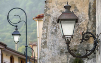 Hanging lamp in the street