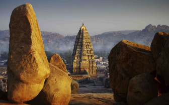 Fog settling in Hampi