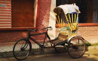 Rickshaw on street