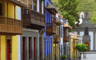 The Facades of Colourful Wooden Spanish Homes