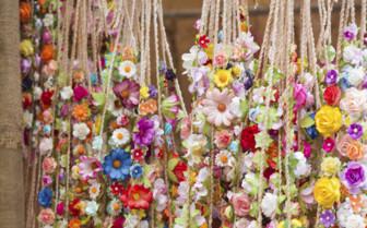 Flower Garlands in a Shop in Ibiza