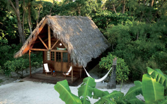 A Thatched Lodge on the Beach