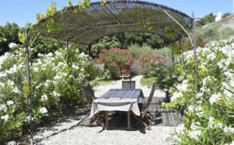 Outdoor idyllic dining area