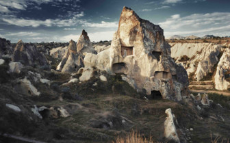Ancient Stone houses in Cappadocia