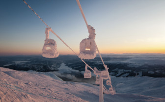 A Frozen Ski Lift