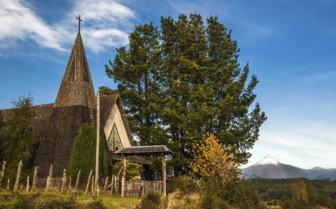 Church in Chilean Lake District