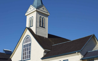 Blue and White Church in Frutillar