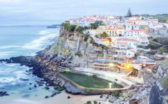 Beach town in Portugal