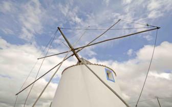 Whitewashed Windmill