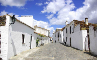 Whitewashed Street View