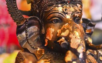 Gold-Leaf Statue